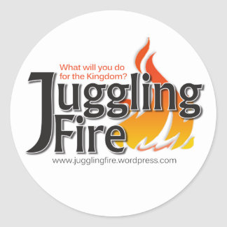 Juggling Fire Cards, Stickers