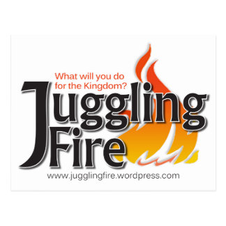 Juggling Fire Cards, Stickers Postcard