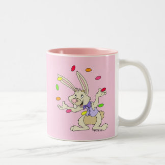 Juggling Jelly Beans Two-Tone Coffee Mug