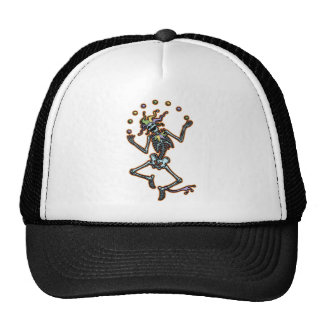 Juggling Jester Skeleton Mesh Hat
