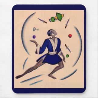 juggling juggler mouse pad