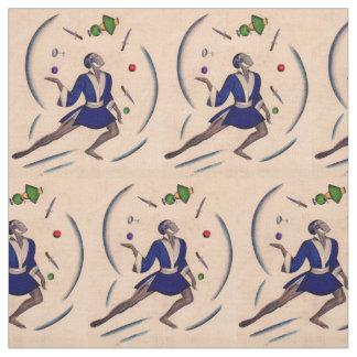 juggling juggler print fabric