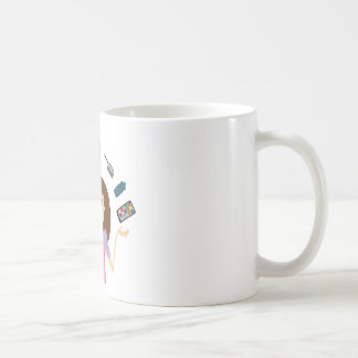 Juggling Mom (Brunette) Classic White Coffee Mug