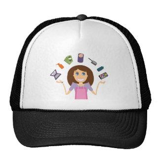 Juggling Mom (Brunette) Trucker Hat