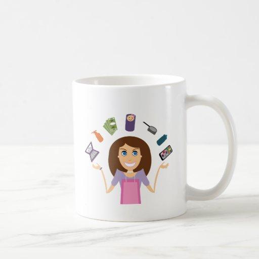 Juggling Mom (Brunette) Coffee Mugs