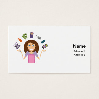 juggling mom business card