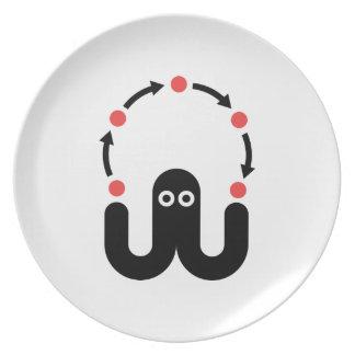 Juggling Octopus Plate