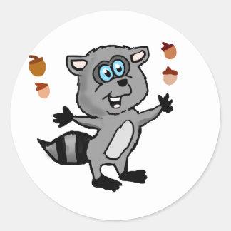 Juggling Raccoon Sticker