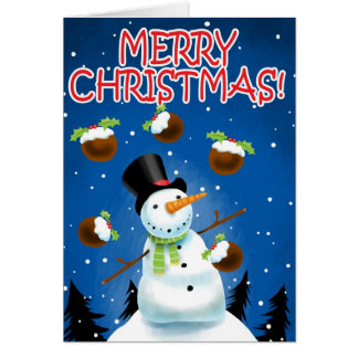 Juggling Snowman Card
