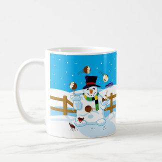 Juggling Snowman Mug