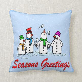 Juggling Snowmen American MoJo Pillows