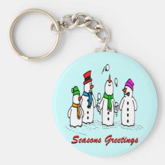 Juggling Snowmen Key Chain