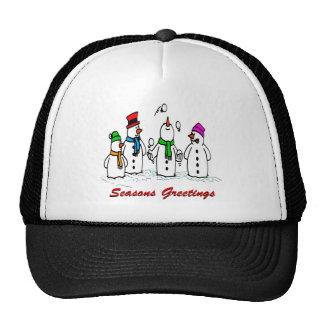 Juggling Snowmen Trucker Hat