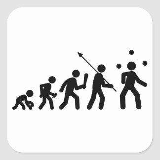 Juggling Square Sticker