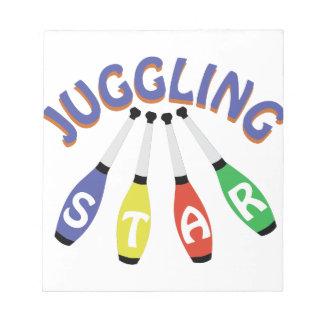 Juggling Star Memo Note Pad