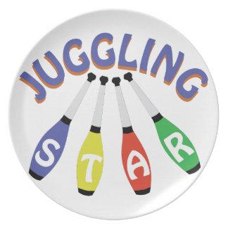 Juggling Star Plate