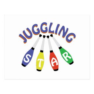 Juggling Star Postcard