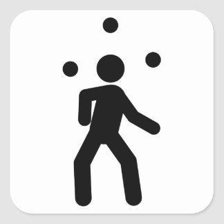 Juggling Square Stickers