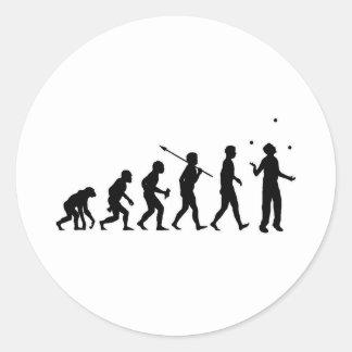 Juggling Round Sticker