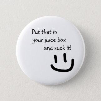 Juice Box 2 Inch Round Button