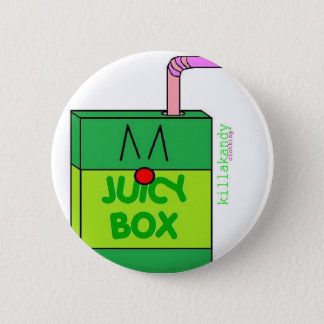 Juice Box Badge Green :) 2 Inch Round Button