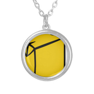 Juice Box Silver Plated Necklace