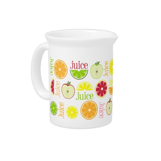 Juice Pitcher - Apple Orange Lemon Lime Grapefruit