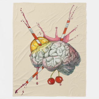 Juicy brain fleece blanket