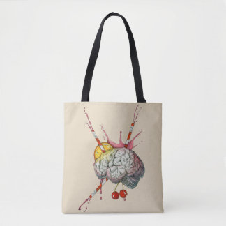 Juicy brain tote bag