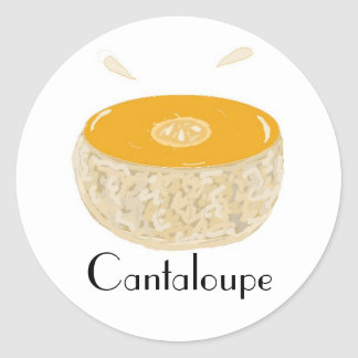 Juicy Cantaloupe Classic Round Sticker