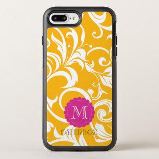 Juicy Citrus Orange Swirl Monogram OtterBox Symmetry iPhone 8 Plus/7 Plus Case