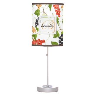 Juicy Currants Monogram Table Lamp
