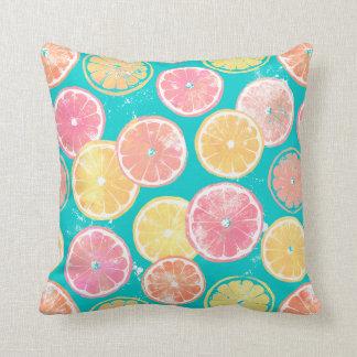 Juicy Grapefruit Slices Throw Pillow