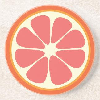 Juicy Grapefruit Summer Citrus Fruit Slice Coaster