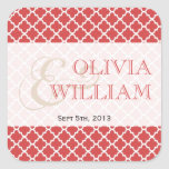 Juicy guava Moroccan tile ampersand modern wedding