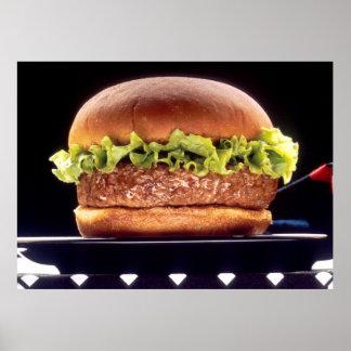 Juicy Hamburger Poster