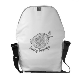 Juicy Mango Black and White Mandala Commuter Bags