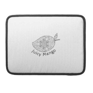 Juicy Mango Black and White Mandala Sleeve For MacBooks