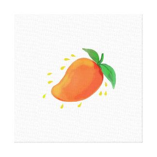 Juicy Mango Fruit Watercolor Canvas Print