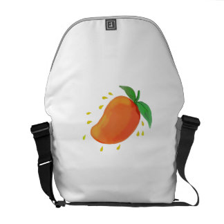 Juicy Mango Fruit Watercolor Courier Bag