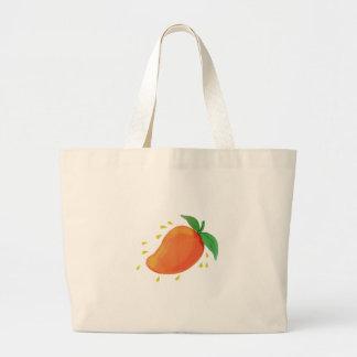Juicy Mango Fruit Watercolor Large Tote Bag