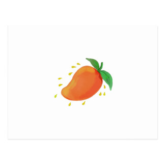 Juicy Mango Fruit Watercolor Postcard