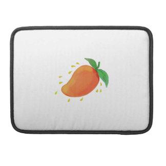 Juicy Mango Fruit Watercolor Sleeve For MacBooks