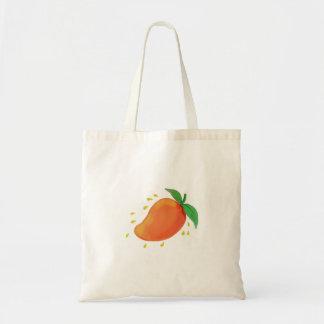 Juicy Mango Fruit Watercolor Tote Bag