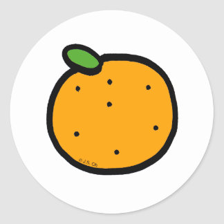 Juicy orange classic round sticker