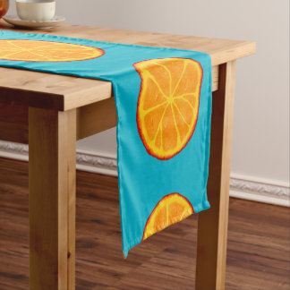 Juicy Orange Slices Custom Table Runner