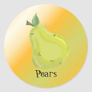 Juicy Pear Classic Round Sticker