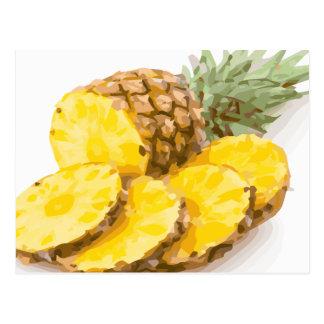Juicy Pineapple Slices Postcard