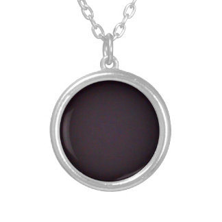Juicy Plum Silver Plated Necklace