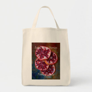 Juicy Pomegranate Food Love Stories Tote Bag